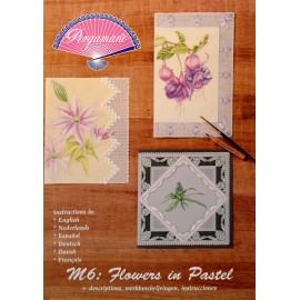 Pergamano modèles patron M06 fleurs pastel