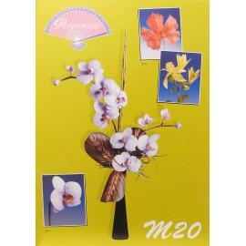 Pergamano modèles patron M20 fleurs en parchemin