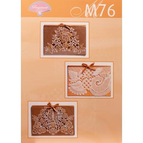 Pergamano modèles patron M76 dentelle blanc et or