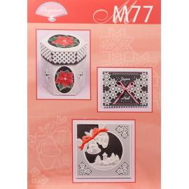 Pergamano modèles patron M77 carte de noel