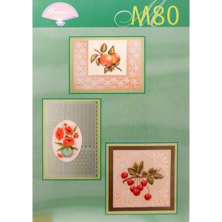 Pergamano modèles patron M80 fruits et fleurs