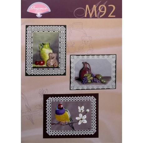 Pergamano modèles patron M92 natures et oiseaux