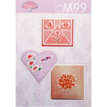 Pergamano modèles patron M99 fleurs colorés