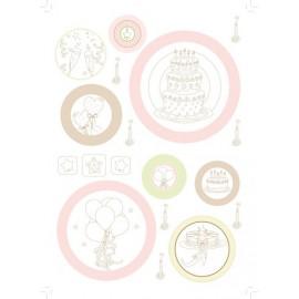 Pergamano feuille parchemin Fête traditionnelle contours 61816 à l'unité