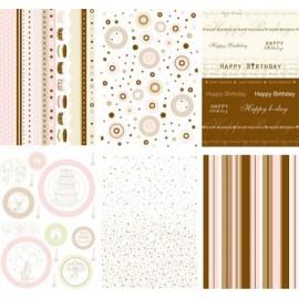 Pergamano paquet papier parchemin fête traditionnelle 62585 6 feuilles