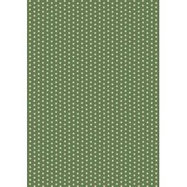 Pergamano feuille parchemin étoiles vert olive 61821 à l'unité