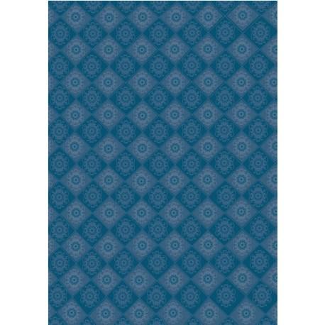 Papier pour carte bleu rosette et vert 61835