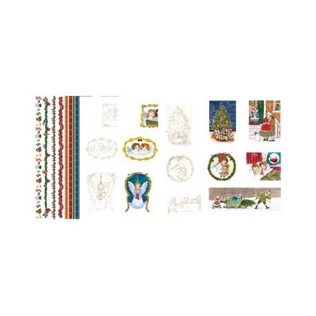 Pergamano paquet papier parchemin anges victorien 62589 5 feuilles