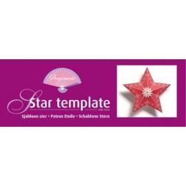 Gabarit boite en papier étoile Pergamano 33352