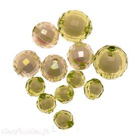 Perles acrylique vert x12 10/16/20mm