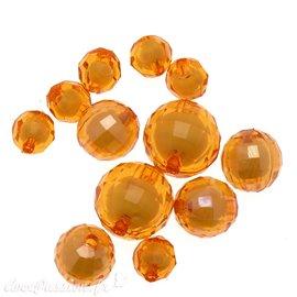 Perles acrylique jaune x12 10/16/20mm