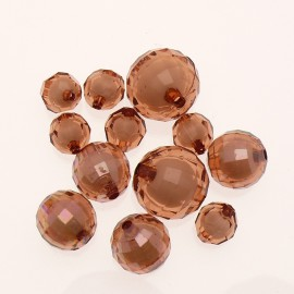 Perles acrylique marron glace x12 10/16/20mm
