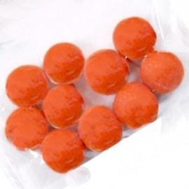 Perles en feutrine 1.5 orange vif x10