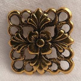 Estampe métal carré vieil or