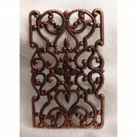 Estampe métal rectangle cuivre