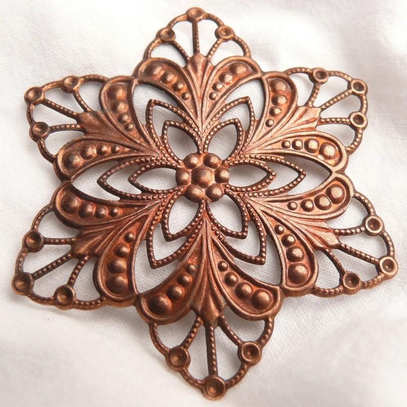 cr ation bijoux estampes m tal rosace cuivre achat vente. Black Bedroom Furniture Sets. Home Design Ideas