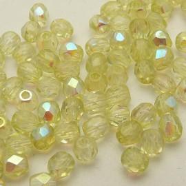 Perles facette AB 4mm amande qu50