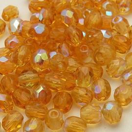 Perles facette AB 4mm lime qu50