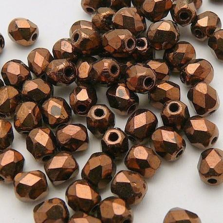 Perles facette 4mm spécial chocolat qu50