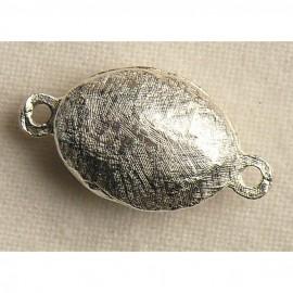 Fermoir aimanté ovale argent 1.5cm