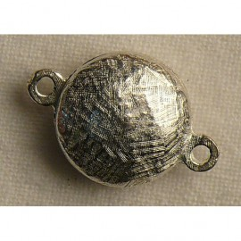 Fermoir aimanté rond argent 1.5cm