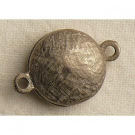 Fermoir aimanté rond vieil argent 1.5cm