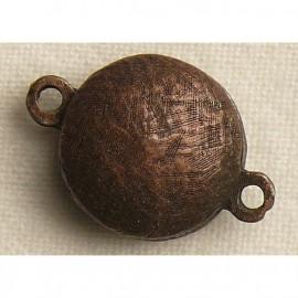 Fermoir aimanté rond cuivre 1.5cm