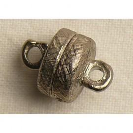 Fermoir aimanté cylindre vieil argent 0.5cm