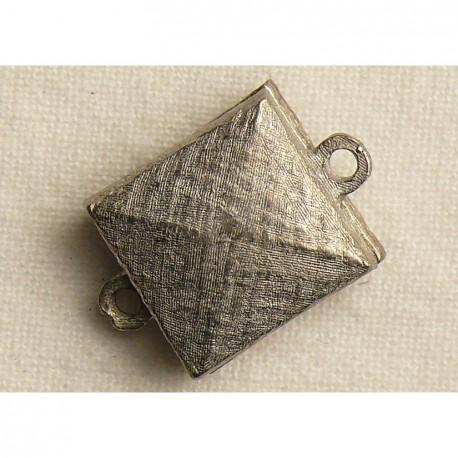 Fermoir aimanté carré vieil argent 1.5cm
