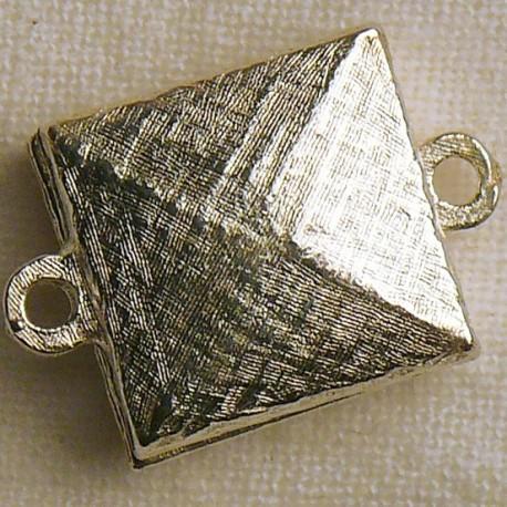 Fermoir aimanté carré argent 1.5cm