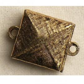 Fermoir aimanté carré vieil or 1.5cm