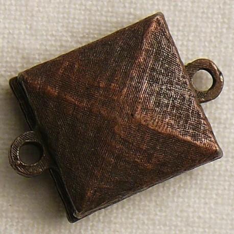 Fermoir aimanté carré cuivre 1.5cm
