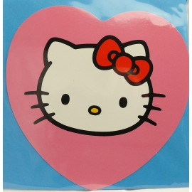 Carte postale hello kitty coeur rose
