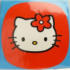 Carte postale hello kitty carré rouge