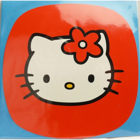 Carte postale hello kitty carré rouge