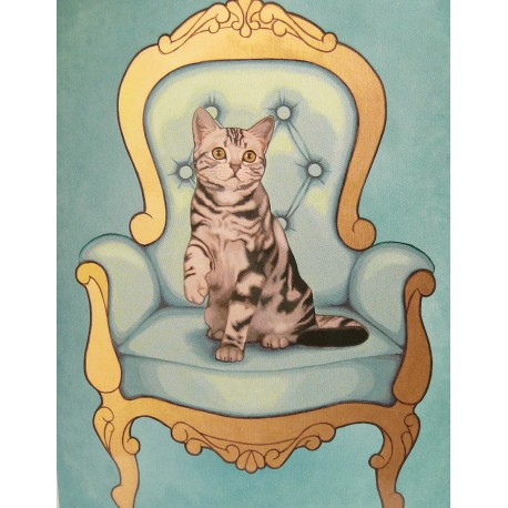 Carte postale chat Maryline Cazenave british short hair