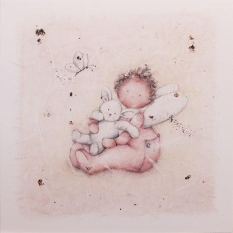 Carte postale Berni Parker's little whispers et son ours