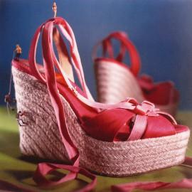 Carte postale sandales espadrilles