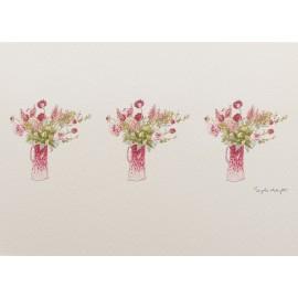 Carte postale fleurs bouquet champêtre