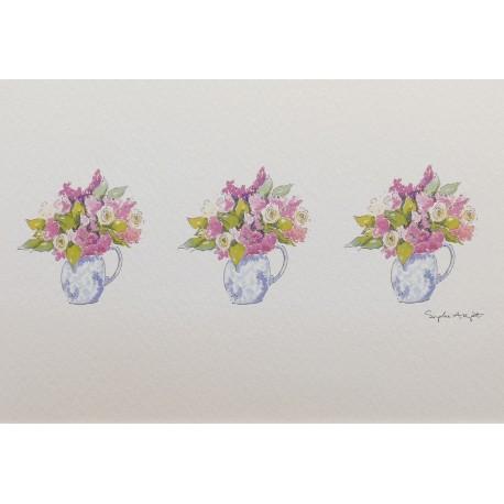 Carte postale fleurs bouquet