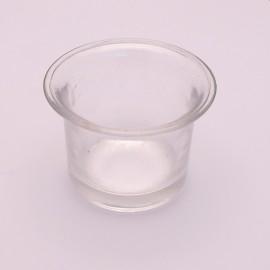 Pot en verre pour photophore 6.5x4.5cm