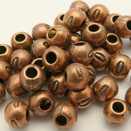 Perle métal boule cuivre 6mm