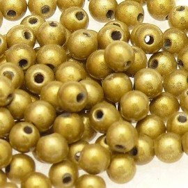 Perles fantaisie miracle olive 4mm qu50