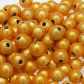 Perles fantaisie miracle sungold 4mm qu50