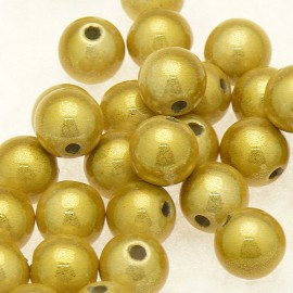5 perles fantaisie miracle olive 8mm