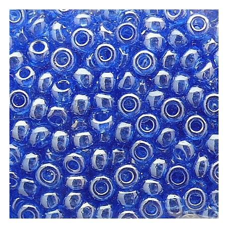 Perles de rocaille sachet 10g lustrées 2mm bleu