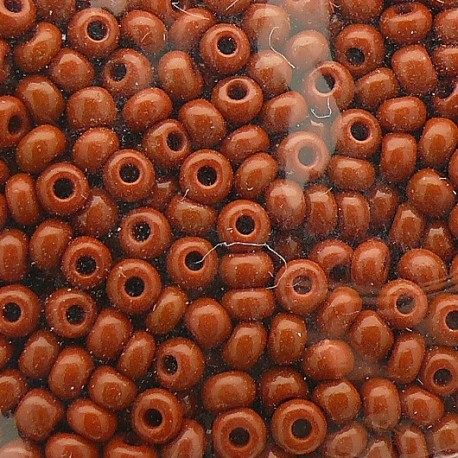 Perles de rocaille sachet 15g opaque 2mm chocolat