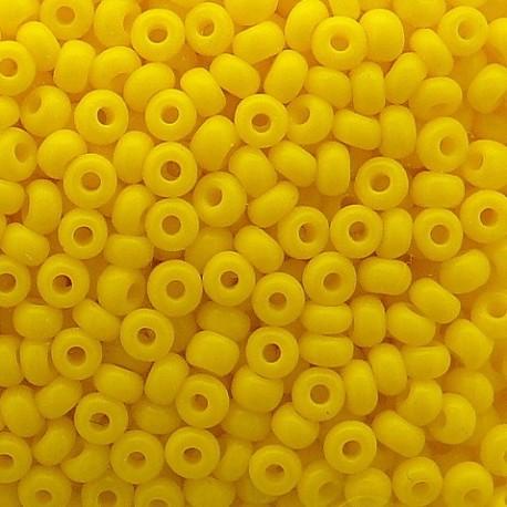 Perles de rocaille sachet 15g opaque 2mm jaune