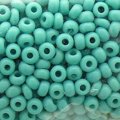 Perles de rocaille sachet 15g opaque 2mm turquoise