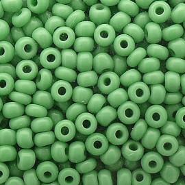 Perles de rocaille sachet 15g opaque 2mm vert pomme